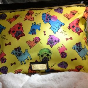 Betsey Johnson Dog Large wristlet